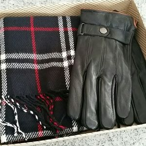 Men's Scarf and Glove Gift Set